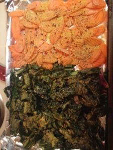 carrots on pan